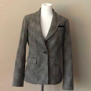 IRIS Black/Gray Glen Plaid Jacket/Blazer